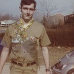 Bill during his own scouting days.