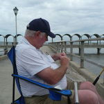 Bill drowning some worms off the pier on Jekyll Island, GA -- one of his favorite vacation spots.