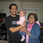 Steve Cali and great-grandma.Cali has been blessed to see her two favorite people almost everyday of her life.