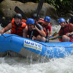White water rafting in Costa Rica, January 2013