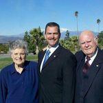 Carolyn Brink, Burt Brink, Larry Brink at St Andrew Orthodox Church in Riverside CA, December 2010.