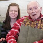 Emily and Grandpa Schommer on December 25, 2012.