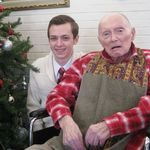 Dave Schommer and Grandpa on December 25, 2012.