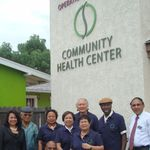 At the Perla M Torres Medical Wing dedication @ Operation Samahan Community Health Center