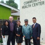 With Art and Mila Goldberg during the medical wing dedication at Operation Samahan Community Health Center