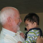 """Getting to know """"Dougie Bug"""" (his nickname for Doug) in Vietnam, January 2009"""