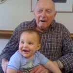 Charlie and Grandpa August 2010