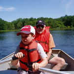 Rowing with Dan at Beaumont Boy Scout Camp