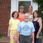 "With ""the girls"" in Evanston, IL, 2004"