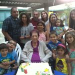 Metzik with all her grandkids and great grandkids