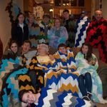 Here we all are with the warmth left behind from your hands gma betty crocheted these and we brought them to the funeral home in tribute to you!  You will live on in us in so many ways XO