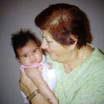Rose with her first Great Grandchild Aleen