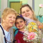 Metzik, daughter Karineh and Great Granddaughter Aleen.