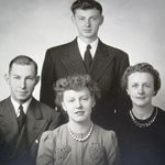 Elwyn Schommer with his Father (John), Mother (Ruth), and Sister (Dorothy).
