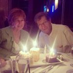 Bob and Karen Silverman attending a retirement dinner for Karen at Ocean Prime Restaurant in Tampa FL.