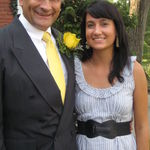 Jenni & dad at Josh & Sarah's wedding, 2012