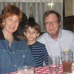 Karen, Joesph and Bob at dinner