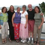 "Bob with ""The Girls"" and their mother, Carole.  Mt. Tremblant, Quebec, 2007"