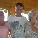 Chris and his sister, Penny and mom, Shirley