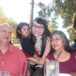 We love you grandpa, love Evadne and Sofia