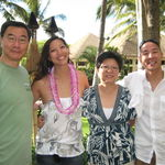 The Wong family on the way to a luau while on vacation in Oahu!