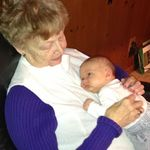 Oma with her newest great-grandchild