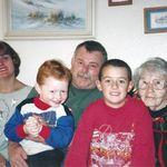 Sue, Butch, Greg, Patrick, Nanny Christmas 1997