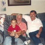 Patrick, Grandpa Don and Greg - 1992