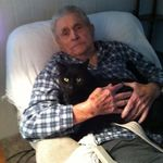 Stan and his cat Midnight