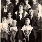 Grandma Grandpa Cantrell, Rausia Lee, Wallace, Bird, W.A., Ernest, Charles, Ruth, Josh, 1930ess