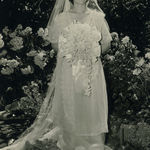 Grace looking radiant in wedding dress