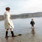 Grace w/ grandson Chris.  Pacific Northwest - maybe Vashon Island.