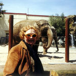 Grace w/ Elephant at SF Zoo (1999)