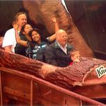 Knott's Berry Farm, Log Ride with Larry Brink and Brendan Brink in the front seat c. 2001.