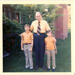 Backyard at home in Arcadia, Steve Brink, LArry Brink, and Burt Brink.