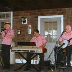 Paul, David James, and Bill Bertles at Blair House, Tewksbury, MA, August 2012. Photo by Jean Caponigro.