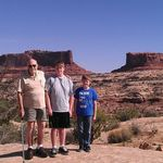 Merrimack and Monitor Mesas near Canyonlands NP in Utah.  Larry Brink, Brendan Brink, and Bob Brink.