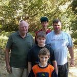 Camping at Point Mugu State Park.  Larry Brink, Brian Brink, Steve Brink, Brendan Brink, and Bob Brink.
