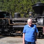 Larry Brink at the Yosemite Mountain Sugar Pine Railroad near Fish Camp, CA, just outside of Yosemite National Park on Highway 41.