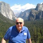 Larry Brink with Yosemite Valley in the background.