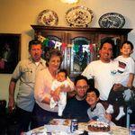 Chuck , Sadie ( Nana) holding grandson Blake , Sadie brother Duane Vigil holding Sadie grandson Chase , and Sadie son in law Danny Canas holding Sadie grandson Grant .