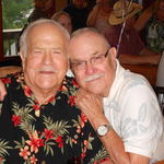UncleTommy and Uncle Leroy at Evelyn's 90th Birthday Celebration.