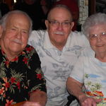 Uncle Leroy, Uncle Tommy and Evelyn in June 2012 at Evelyn's 90th Birthday.