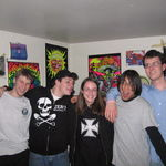 I honestly can't remember when or where this photo was taken but it must have been in highschool or shortly thereafter. It is now a much more precious photo to me. Left to Right (Kevin, JB, Christina, Byrd, and Forrest)