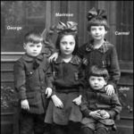 1916 George Meno with 3 of his 4 sibling. The last Tom not born yet.