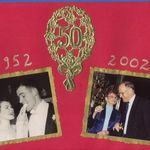 50th Anniversary picture, wedding reception and 2002 in  Waterloo, Belgium