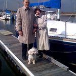 Mom, Dad, and Max at Bolling AFB boatyard, Jan. 2006?