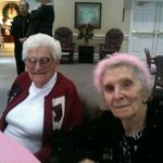Rose and sister Leonora at Leonora's 95th birthday!
