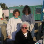 Grandma, Megan and Liz at Woody's, St. Pete Beach, FL