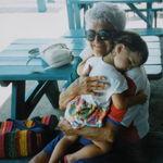 Grandma and Megan at St. Pete Beach.